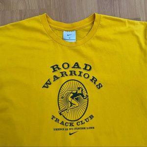 Vtg Nike Road Warrior Track Club Logo T-Shirt Med